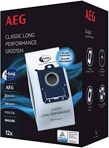 AEG GR201SM s-bag Staubbeutel Classic Long Performance MegaPack / 12...