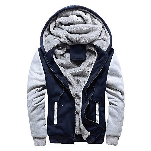 ZIYOU Herren Dicker Sweater Jacket mit Kapuze Outwear Winterjacke...