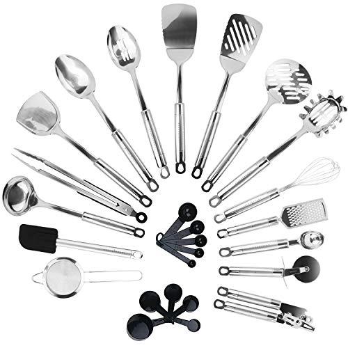 KRONENKRAFT® 26 teiliges Küchenset aus Edelstahl Küchenutensilien...