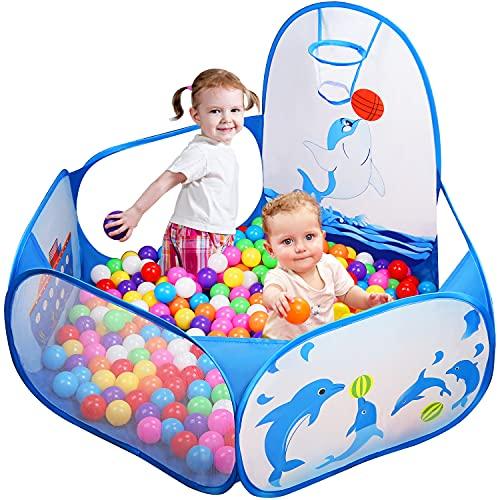 Likorlove Kinder Bällebad, Pop Up Baby Kugelbad Outdoor mit Mini...
