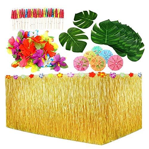 109 Stück Hawaii Tischröcke Party Deko Party ZubehöR Cocktail Pool...