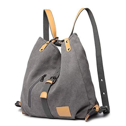 Kono Damen Canvas Handtasche Rucksack Frauen Schultertasche Shopper...