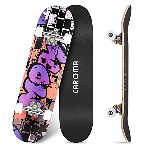 Skateboard für Anfänger,79cm×20cm Komplette Skate Boards,9 Lagigem...