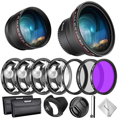 Neewer 58MM Objektiv und Filter Kit für Canon EOS EF-S 18-55mm...