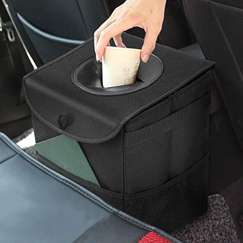 Samoleus Auto Mülleimer mit Deckel, Wasserdicht Auslaufsicher...