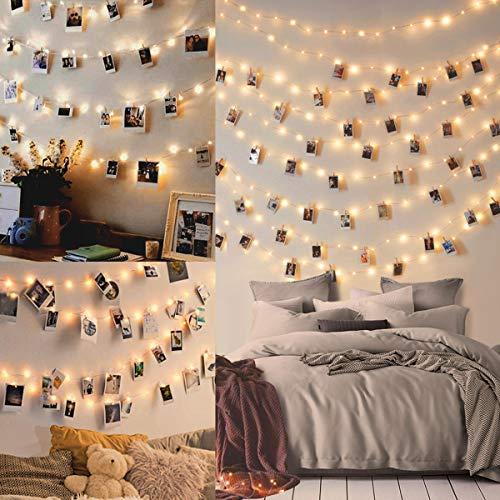 WEARXI Lichterketten für Zimmer Deko - 10M 100 LED Foto Lichterkette...