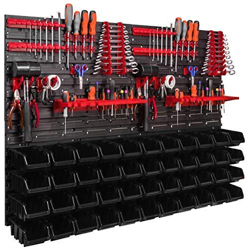 Lagersystem Wandregal 1152 x 780 mm, Werkzeughalterungen, Stapelboxen...