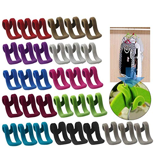 Kleiderbügel Mini Beflockungshaken Rutschfester Kleiderständer...
