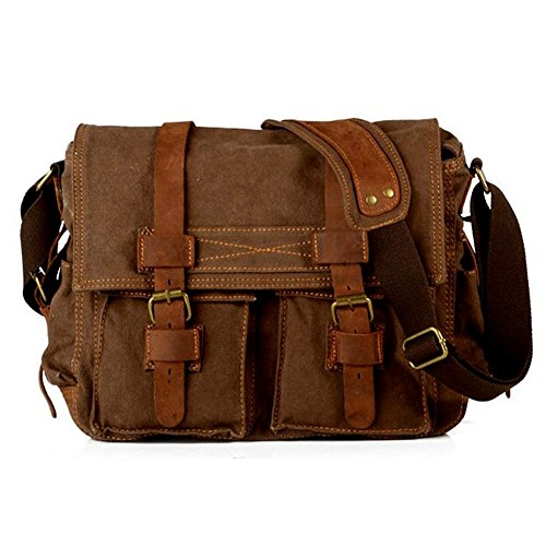 Laptoptasche 17 Zoll Mens Vintage Casual Leinwand Umhängetasche...