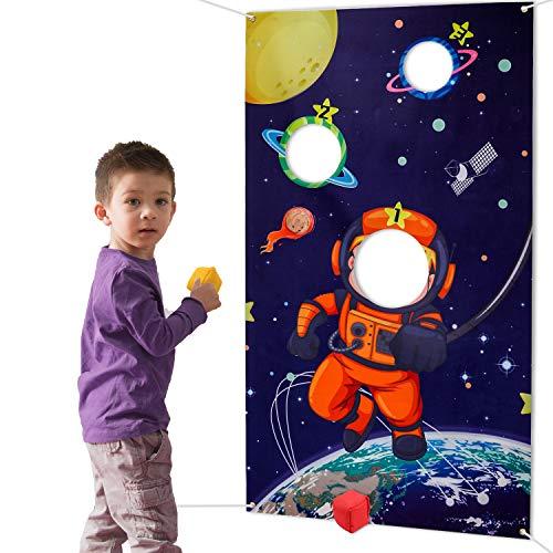HOWAF Weltraum Sonnensystem Wurfspiele Set für Kinder, Astronaut...
