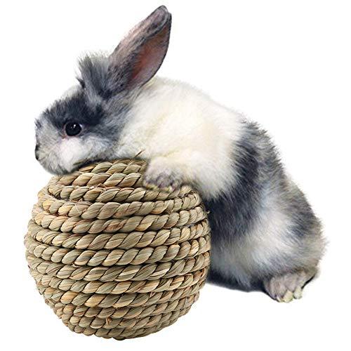 HEEPDD Natural Grass Straw Ball, Haustier Spielzeug Papagei Nagen...