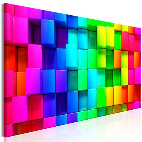 decomonkey Bilder Quadrat 150x50 cm 1 Teilig Leinwandbilder Bild auf...