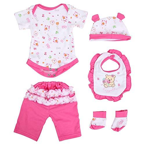 Zerodis Baby Simulation Puppe Kleidung Schöne Fünf Stück Set...