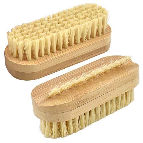 Nagelbürste aus Holz, 2 Stück 9.5cm Doppelseitige Bürste...