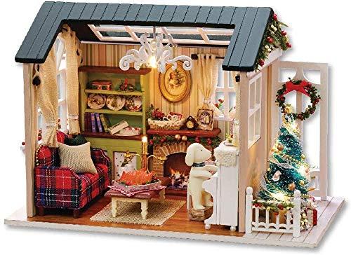 YUACY Puppen Haus Kit,DIY Holzhaus Mini-Puppe Haus Kit...