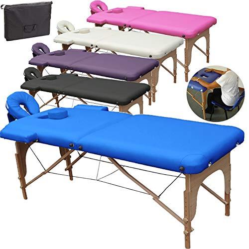 Mobile Massagetisch Massageliege Massagebank 2 zonen klappbar...