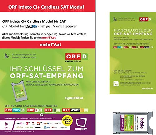 ORF DIGITAL DIREKT irdeto CI+ Modul Dual Entschlüsselung Technologie...
