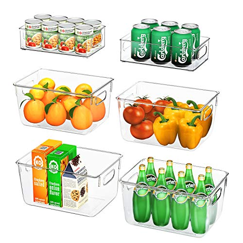 FINEW Kühlschrank Organizer 6er Set (4 Große/2 Mittel), Hochwertig...