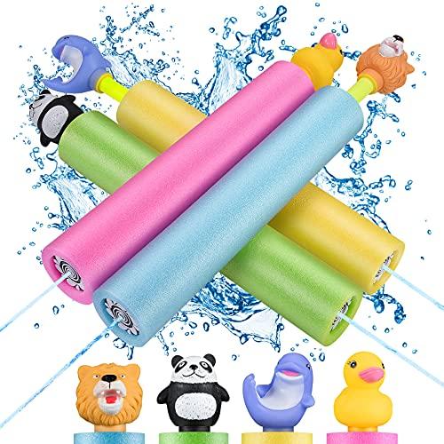LET'S GO! Pool Spielzeug Kinder, Wasserspritzpistolen Outdoor...