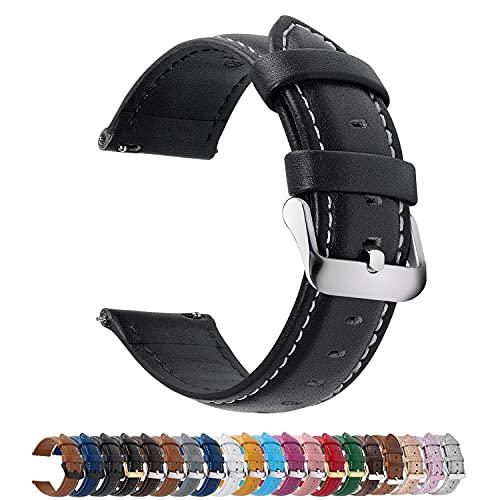Fullmosa 12 Farben Uhrenarmband, Axus Serie Lederarmband Ersatz-Watch...