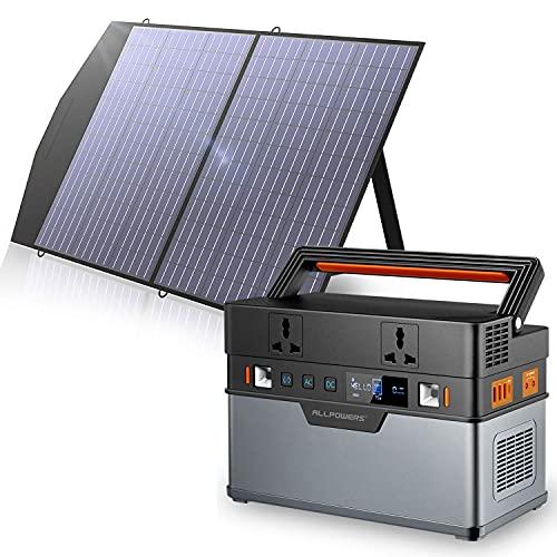 ALLPOWERS Tragbarer Generator 666Wh / 185200mAh Solar Generator...
