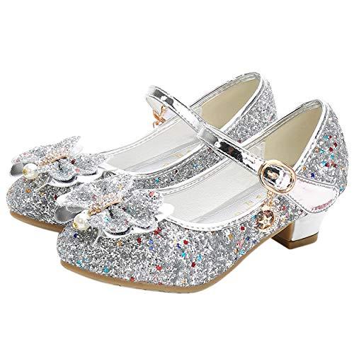 YOSICIL Mädchen Prinzessin Schuhe ELSA Schuhe mit Absatz Anhänger...