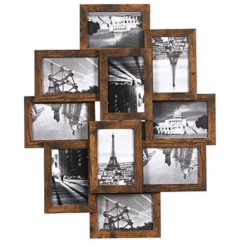 SONGMICS Bilderrahmen-Collage, für 10 Fotos je 10 x 15 cm (4 x 6...