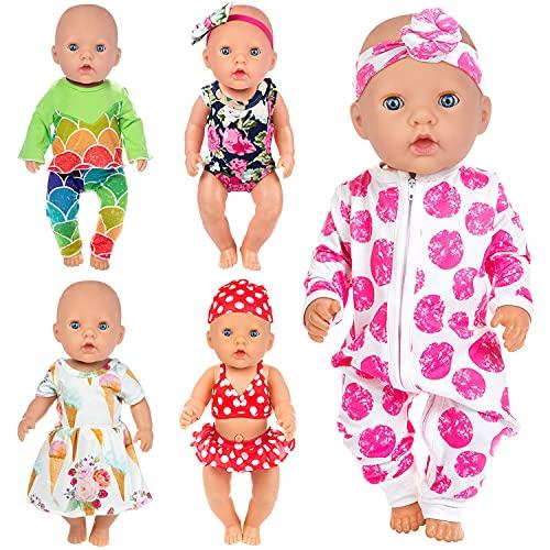 ZITA ELEMENT 5 Set Puppenkleidung Bekleidung Zubehör für 35-46cm...
