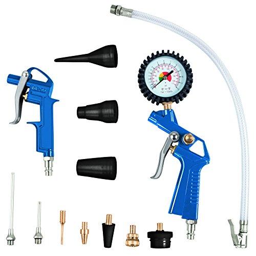 Scheppach 7906100710 Kompressor Zubehör Set, blauschwarzsilbergold