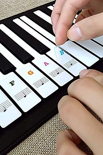 Klavier Keyboard Noten Aufkleber für 37 | 49 | 61 | 76 | 88...