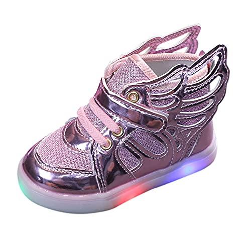 Unsex Mary Jane Sneaker Lauflernschuhe mit LED-Lichtleuchte Prinzessin...