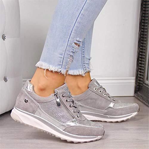 Oceansee Damen Freizeitschuhe Mode Keilabsatz Flache Schuhe...