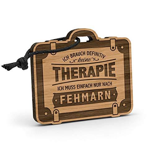 Fashionalarm Schlüsselanhänger Therapie - Fehmarn aus Holz mit...