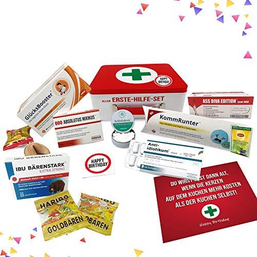 Geburtstagsgeschenk - Aller Erste Hilfe Set Geschenk-Box, witziger...