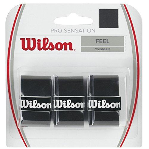 Wilson Unisex Griffband Pro Overgrip Sensation, schwarz, 3 Stück,...