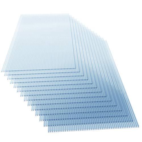 Deuba 14x Polycarbonat Hohlkammerstegplatten 4mm 10,25 m²...