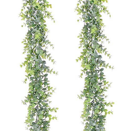 YQing 2 Stück Eukalyptus Pflanze Künstliche Leaf Greenery...