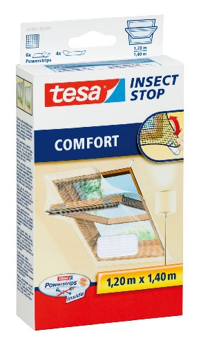 tesa Insect Stop COMFORT Fliegengitter für Dachfenster -...