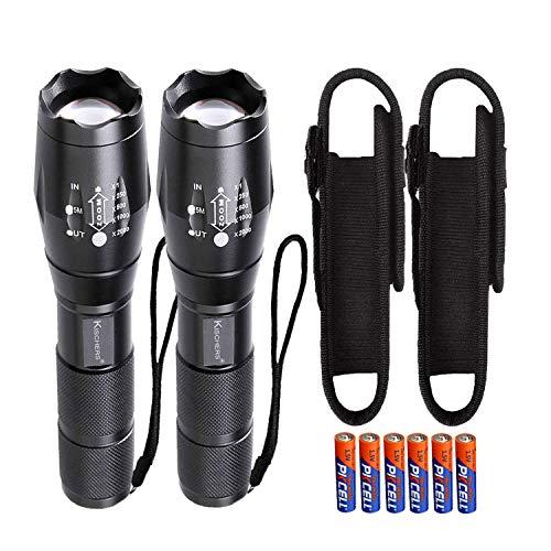 KISCHERS LED Taschenlampe mit Holster Set Inklusive 6 aaa Batterien...