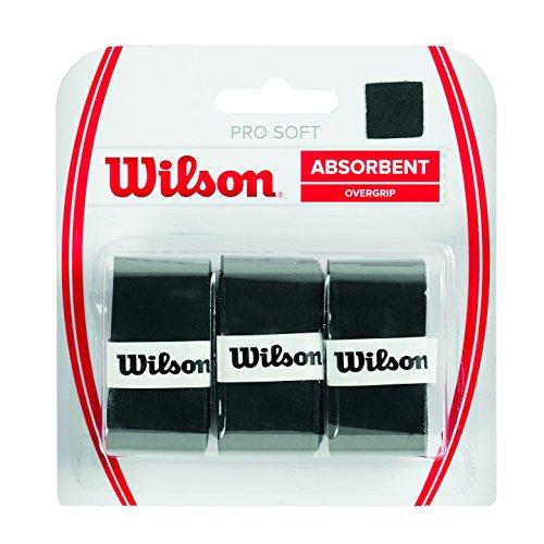 Wilson Unisex Griffband Pro Soft Overgrip, schwarz, 3 Stück,...