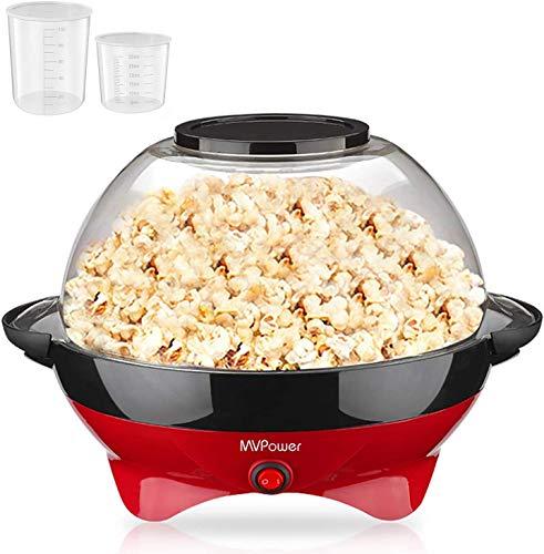 MVPower Popcornmaschine, 800W Popcorn Maker, Popcornmaschine für...