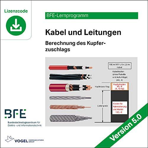 Kabel und Leitungen: Berechnung des Kupferzuschlags / Version 5.0...