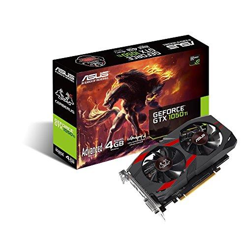 ASUS Cerberus-GTX1050TI-A4G Gaming Grafikkarte (Nvidia, PCIe 3.0, 4GB...