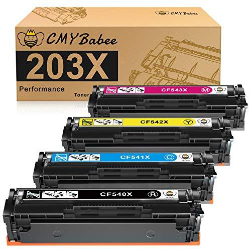 CMYBabee 203X Kompatibel für HP 203X CF540X 203A CF540A Toner für HP...