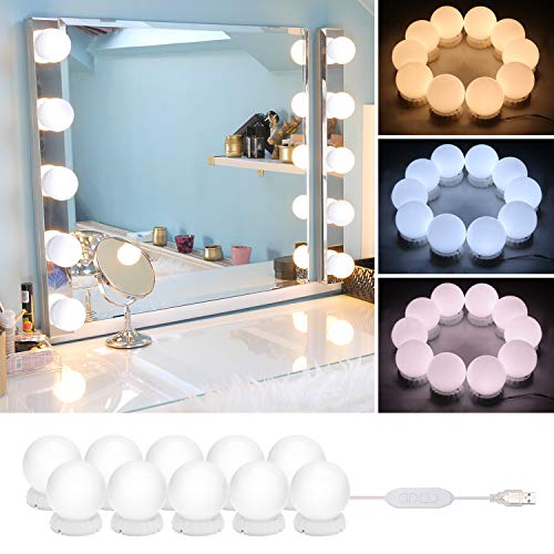 Timker Led Spiegelleuchte, 10Stk Spiegel Beleuchtung -Stil LED...