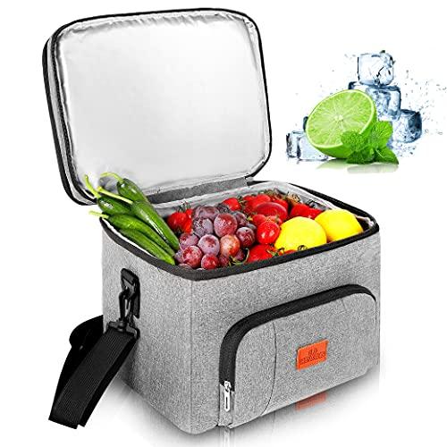 Kühltasche 25L Groß faltbar Kühlkorb Kühlbox Isoliertasche...