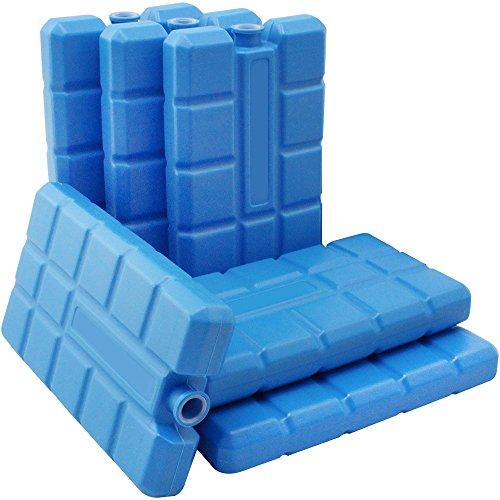 com-four® 6X Kühlakku in blau - Kühlelemente für Kühlbox und...