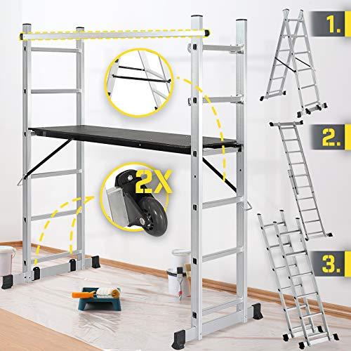 Jago® Baugerüst - Arbeitshöhe max. 300 cm, bis zu 150 kg Belastbar...