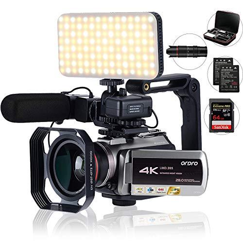 Camcorder 4k,mit 64-fachem Digitalzoom, Verbindung mit...