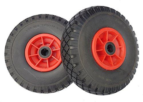 2 x Frosal PU Rad Sackkarre 260 mm 3.00-4 | 20 mm Achse |...
